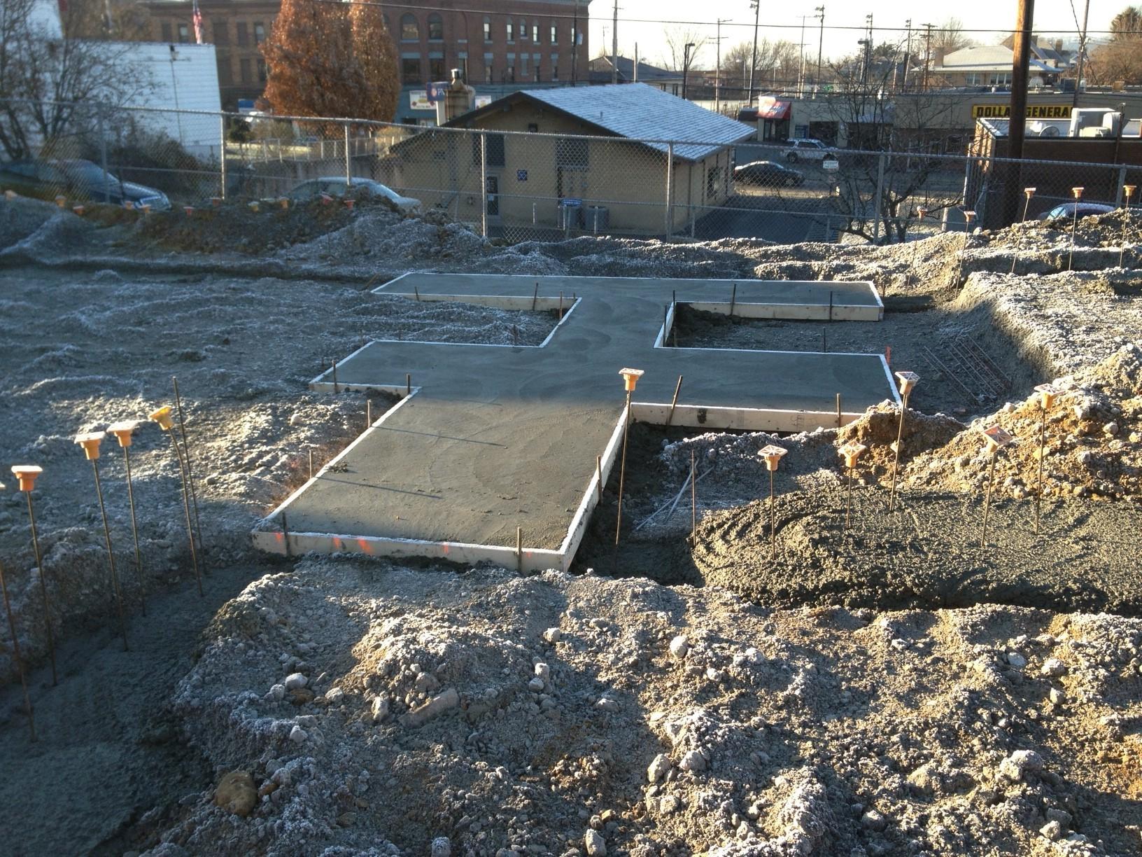 Concrete Foundation Work : Phase cement foundation work bellevue pa skate plaza